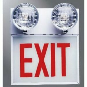 Emergency Exit Sign Light Cooper Lighting Sure lites Chicago Code Commercial