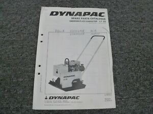 Dynapac Lf30 Vibrating Plate Compactor W Robin Ey14d Engine Parts Catalog Manual