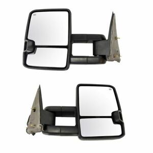 Towing Mirror Power Heated Turn Signal Textured Black Pair For 99 02 Gm Pickup