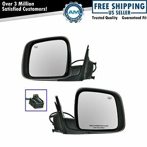 Power Heated Side View Mirror Pair Set Of 2 For 11 18 Jeep Grand Cherokee