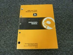 John Deere 300d 310d Backhoe Loader Owner Operator Maintenance Manual Omt151966