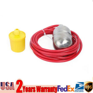High Temperature Stainless Steel Mercury Float Switch Level Water Switch 4m 1kw