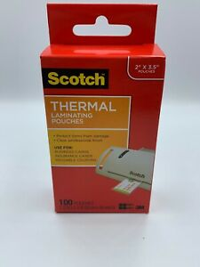 Scotch Business Card Size Thermal Laminating Pouches 5 Mil 3m 051141366623