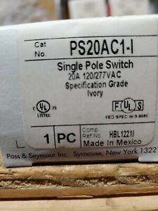 8 pass Seymour Legrand Ps20ac1 l Single Pole Switch 20a 120 277vac Ivory