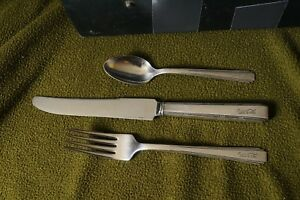 1920s Coca Cola Bottling Co. silverware Fork Knife and Spoon set Stratfordplate