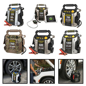 Portable Battery Jump Starter Car Vehicle Peak Charger Booster W Air Compressor