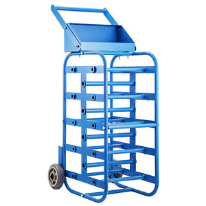 Wire Reel Caddy Wire Spool Rack 1 And 4 5 Multiple Axles Cable Caddy In Blue