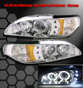 1994 1998 Mustang Led Projector Headlight Chrome Gt Gts
