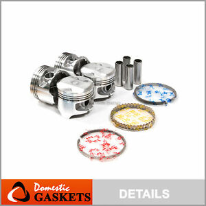 Pistons And Rings Fit Acura Integra Honda Zc P29 1 6 Liter D16a1