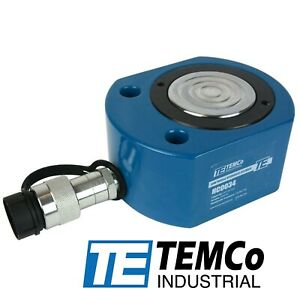 Temco Hc0034 Low Profile Height Hydraulic Cylinder Puck 50 Ton 0 63 Stroke