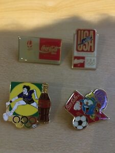 4 x  Coca Cola Olympics Collectible Pins