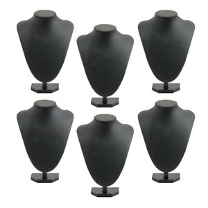 Lots 6 Grils Black Necklace Display Bust Jewelry Display Holder 21x16cm