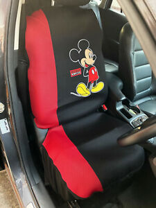 Mickey Mouse Disney Car Truck Accessory 1 Piece Car Seat Cover Black red fun