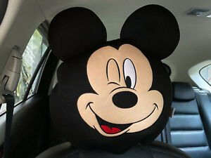 Mickey Mouse Car Truck Accessory 1 Piece Head Rest Head Seat Cover Black fun