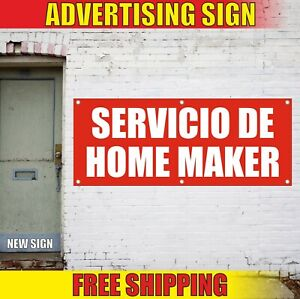 Home Maker Banner Advertising Vinyl Sign Flag Servicio Service Cleaning Keeper