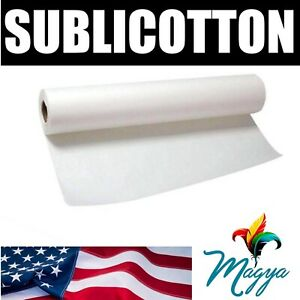 Sublicotton Heat Transfer Paper Roll 44 x50 For Sublimation Plotters Usa Made