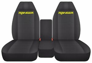 Front Truck Seat Covers Fits 2002 Ford Ranger Charcoal Set 60 40 Split