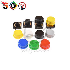 Momentary Tactile Push Button Touch Switch 4p W cap 12x12x7 3mm 10mm 12mm