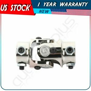 1 Pcs Single Universal Steering Chrome Steel U Joint Shaft 3 4 Dd X 3 4 Dd