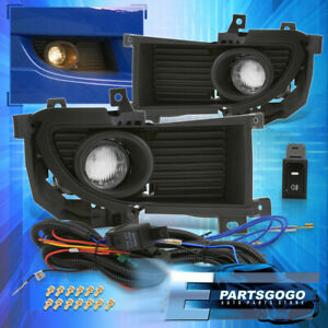 For 04 06 Mitsubishi Lancer Ralliart Front Fog Light Clear Bulbs Switch Wiring