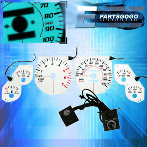 For 1993 For 1996 Jeep Grand Cherokee Jdm White Face Indiglo Reverse Glow Gauges