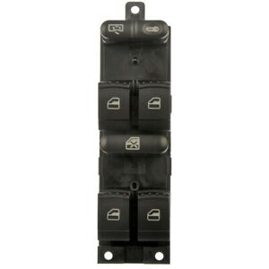 901 500 Dorman Power Window Switch Front Driver Left Side New Black For Vw Lh