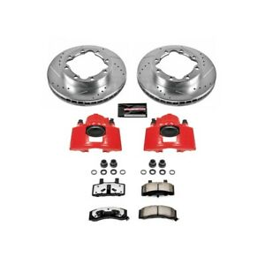 Kc1524 36 Powerstop 2 Wheel Set Brake Disc And Caliper Kits Front For Chevy