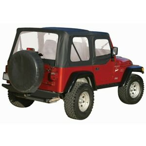 Ct20135 Rt Off road Soft Top New Black For Jeep Wrangler 1997 2006