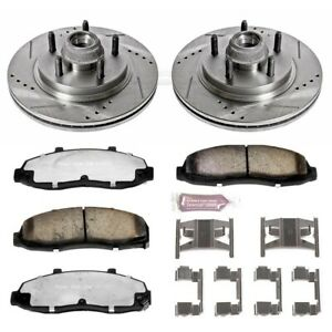 K1914 36 Powerstop Brake Disc And Pad Kits 2 Wheel Set Front New For F150 Truck