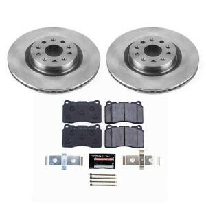 Tdbk6998 Powerstop 2 wheel Set Brake Disc And Pad Kits Front New For Chevy Cts