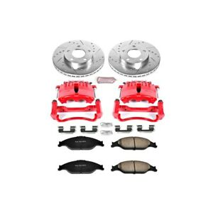 Kc1301 Powerstop Brake Disc And Caliper Kits 2 wheel Set Front For Ford Mustang