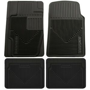 Set h2151111 4 Husky Liners Floor Mats Set Of 4 Front New Black For Chevy Vw 318