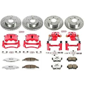 Kc1302 26 Powerstop Brake Disc And Caliper Kits 4 wheel Set Front Rear