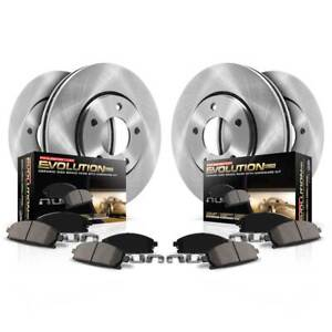 Koe375 Powerstop Brake Disc And Pad Kits 4 wheel Set Front Rear New For Vw