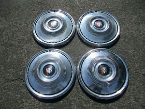 Factory Original 1969 Buick Special 14 Inch Hubcaps Wheel Covers