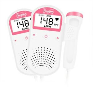 Fetal Doppler Prenatal Baby Heart Rate Detector Household Beat Monitor Accurate