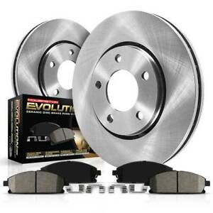 Koe7013 Powerstop Brake Disc And Pad Kits 2 wheel Set Front New For Bmw 335i