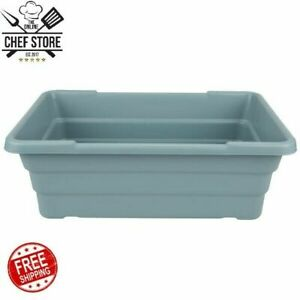 15 X 24 X 8 Gray Meat Lug Tote Box Food Carrier Container Storage Large