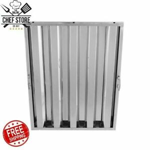 25 X 20 Stainless Steel Hood Grease Commercial Exhaust Filter Baffle Kitchen