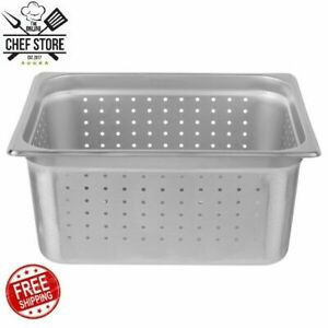 1 2 Size 6 Deep Anti Jam Perforated Stainless Steel Steam Table Pan 24 Gauge