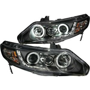 121454 Anzo Headlight Lamp Driver Passenger Side New Sedan Lh Rh For Civic