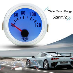Universal Car Digital Water Temp Temperature Meter Gauge Blue Led 1 8 Npt Sensor