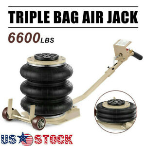 Portable 3ton Lifts T riple Stage Bag Air Jack Frame Alignment Car Truck Shop