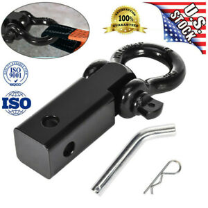 Trailer Hitch 2in Receiver With 3 4in D ring Shackle Towing For Trucks Jeeps