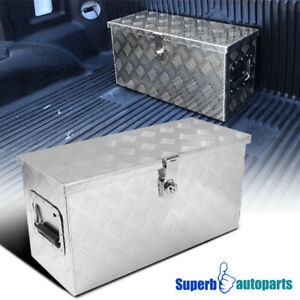 24 x10 x12 Truck Aluminum Tool Box Storage Trailer Pickup W lock Handle