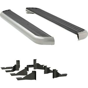 575102 570939 Luverne Set Of 2 Running Boards New Polished For Ram Truck Pair