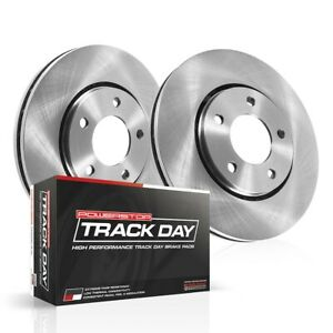 Tdbk1243 Powerstop 2 wheel Set Brake Disc And Pad Kits Rear New Coupe For Civic