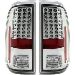 311128 Anzo Tail Lights Lamps Set Of 2 Driver Passenger Side New Lh Rh Pair