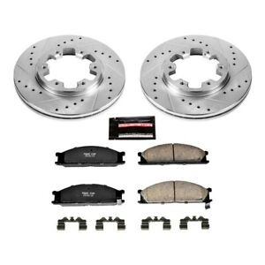 K4837 Powerstop Brake Disc And Pad Kits 2 wheel Set Front New For Hardbody D21