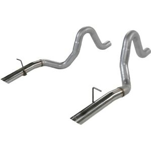 15820 Flowmaster Tail Pipes Set Of 2 New Sedan For Ford Mustang 1986 1993 Pair